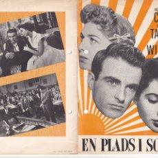 Cine: 6 GUÍAS DE CINE DANESAS DE ELIZABETH TAYLOR CON ARGUMENTO Y FOTOS. Lote 180314786