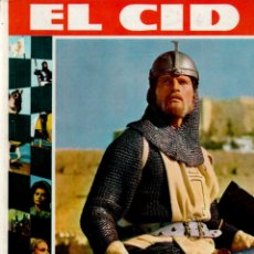 Cine: EL CID - LIBRO DE LA PELÍCULA CON FOTOGRAFÍAS DEL FILM (FHER, 1962) COMO NUEVO. Lote 212488791