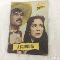 Cine: - A ESCONDIDA - CON MARIA FELIX, PEDRO ARMENDARIZ. ILUSTRADA.. Lote 182667010