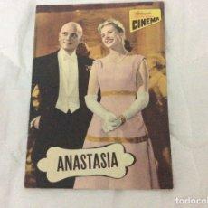 Cine: - ANASTASIA - CON INGRID BERGMAN, YUL BRYNNER. ILUSTRADA.. Lote 182667850
