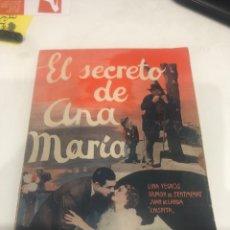 Cine: EL SECRETO DE ANA MARÍA. Lote 188753168