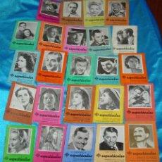 Cine: CINE ESPECTACULOS-PROGRAMACION DE 1944 Y1945 LOTE DE 24, LEER Y VER FOTOS. Lote 190461708