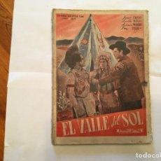 Cine: EDICIONES BIBLIOTECA FILMS,SERIE ALFA, DE 1945 EL VALLE DEL SOL, EDITORIAL ALAS, FOTO NOVELA,. Lote 191806050