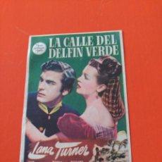 Cine: LA CALLE DEL DELFÍN VERDE. Lote 195203378