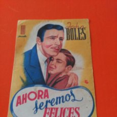 Cine: AHORA SEREMOS FELICES. Lote 195210147