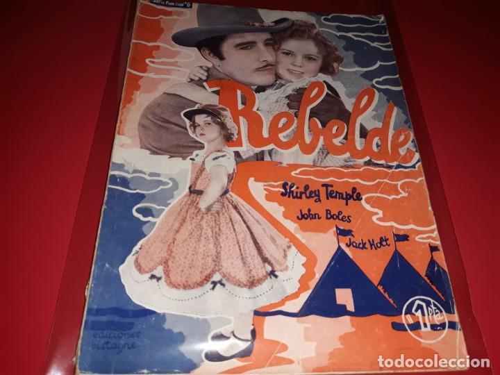 REBELDE CON SHIRLEY TEMPLE. ARGUMENTO NOVELADO DE PELICULA CON FOTOGRAFIAS.1939 (Cine - Foto-Films y Cine-Novelas)