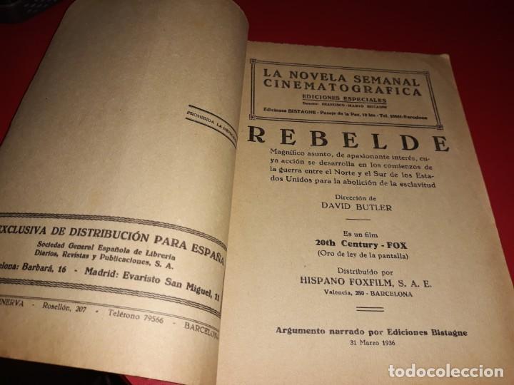 Cine: Rebelde con Shirley Temple. Argumento Novelado de Pelicula con Fotografias.1939 - Foto 3 - 197901625