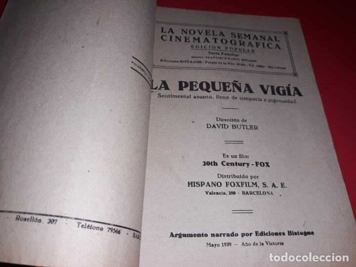 Cine: La Pequeña Vigia con Shirley Temple. Argumento Novelado de Pelicula con Fotografias.1939 - Foto 3 - 197902132