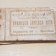 Cinema: CINE DE BOLSILLO EVARISTO JUNCOSA HIJO AÑOS 30 COMPLETO. Lote 200749392
