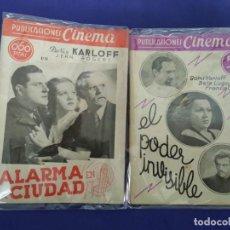 Cine: BORIS KARLOFF. ALARMA EN LA CIUDAD Y EL PODER INVISIBLE. Lote 201600908