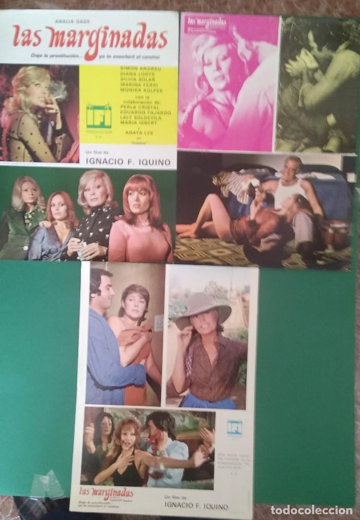 3 FOTOCROMOS LAS MARGINADAS 1977- ANALÍA GADÉ,DIANA LORYS, PERFECTO ESTADO (Cine - Foto-Films y Cine-Novelas)