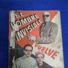 Cine: EL HOMBRE INVISIBLE. ORIGINAL. Lote 203607815