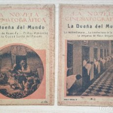 Cine: DOS NÚMEROS DE LA NOVELA CINEMTAGRÁFICA - LA DUEÑA DEL MUNDO, 2 Y 3. Lote 204529540