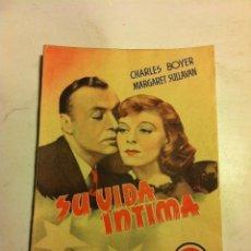 Cine: SU VIDA INTIMA -(MUY BIEN CONSERVADO. Lote 204693706