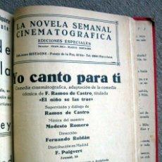 Cinema: 1 TOMO ENCUADERNADO DE FOLLETINES DE CINE CLÁSICO, CON IMÁGENES DE LAS PELÍCULAS. Lote 197613518