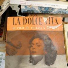 Cine: LA DOLCE VITA. EL FILM DE F. FELLINI Y DUCA.. Lote 208941878