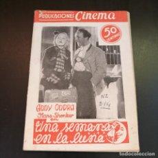 Cine: UNA SEMANA EN LA LUNA - ANNY ONDRA Y HANS SHONKER - 1A MITAD SIGLO XX - PUBLICACIONES CINEMA. Lote 213554398