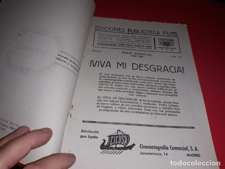 Cine: Viva mi Desgracia con Pedro Infante .Argumento Novelado con muchas Fotografias. 1943 - Foto 2 - 217730876