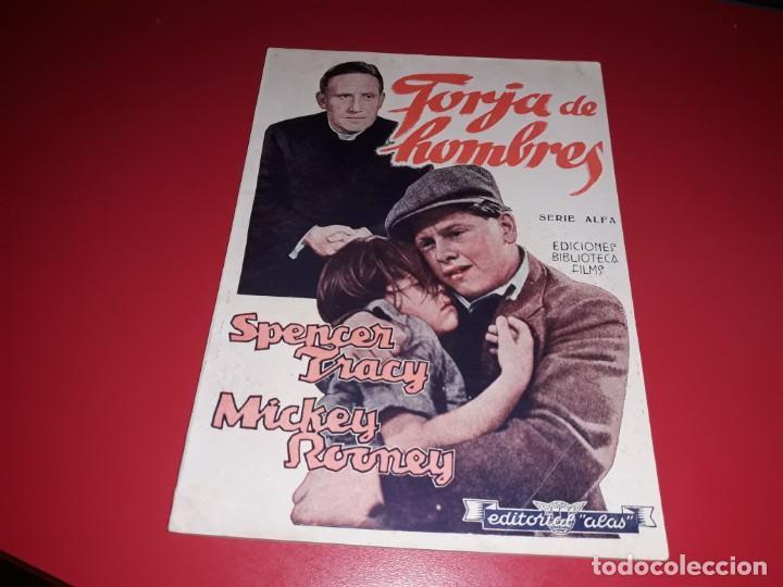 FORJA DE HOMBRES CON SPENCER TRACY Y MICKEY ROONEY .ARGUMENTO NOVELADO CON MUCHAS FOTOGRAFIAS. 1938 (Cine - Foto-Films y Cine-Novelas)