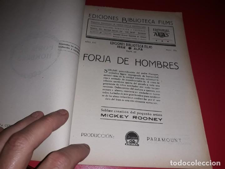 Cine: Forja de Hombres con Spencer Tracy y Mickey Rooney .Argumento Novelado con muchas Fotografias. 1938 - Foto 2 - 217732683