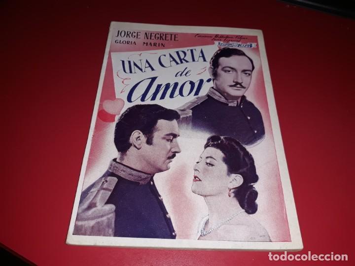 UNA CARTA DE AMOR CON JORGE NEGRETE .ARGUMENTO NOVELADO CON MUCHAS FOTOGRAFIAS. 1943 (Cine - Foto-Films y Cine-Novelas)