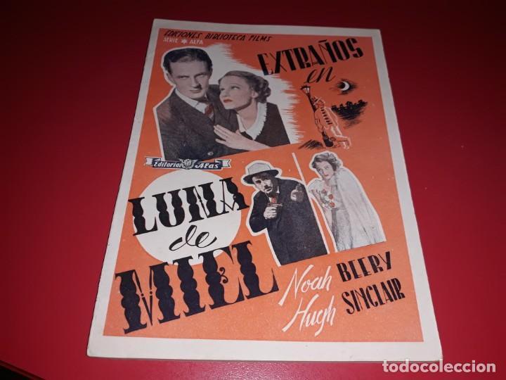 EXTRAÑOS EN LUNA DE MIEL .ARGUMENTO NOVELADO CON MUCHAS FOTOGRAFIAS. 1936 (Cine - Foto-Films y Cine-Novelas)