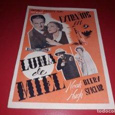 Cine: EXTRAÑOS EN LUNA DE MIEL .ARGUMENTO NOVELADO CON MUCHAS FOTOGRAFIAS. 1936. Lote 217734498
