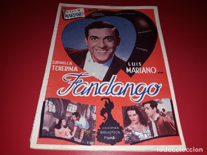 FANDANGO CON LUIS MARIANO ARGUMENTO NOVELADO CON MUCHAS FOTOGRAFIAS. 1936 (Cine - Foto-Films y Cine-Novelas)