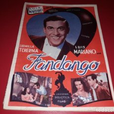 Cine: FANDANGO CON LUIS MARIANO ARGUMENTO NOVELADO CON MUCHAS FOTOGRAFIAS. 1936. Lote 217735205