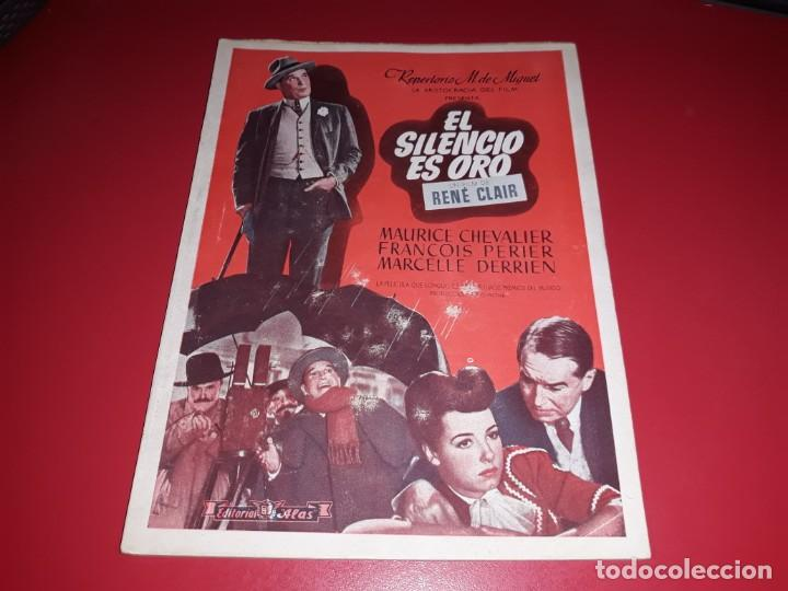 EL SILENCIO ES ORO CON MAURICE CHEVALIER .ARGUMENTO NOVELADO CON MUCHAS FOTOGRAFIAS. 1947 (Cine - Foto-Films y Cine-Novelas)