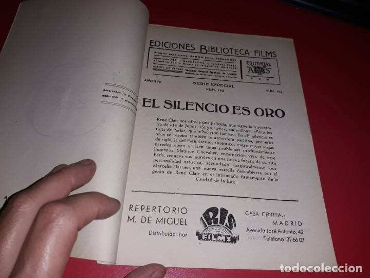 Cine: El Silencio es Oro con Maurice Chevalier .Argumento Novelado con muchas Fotografias. 1947 - Foto 2 - 217736103