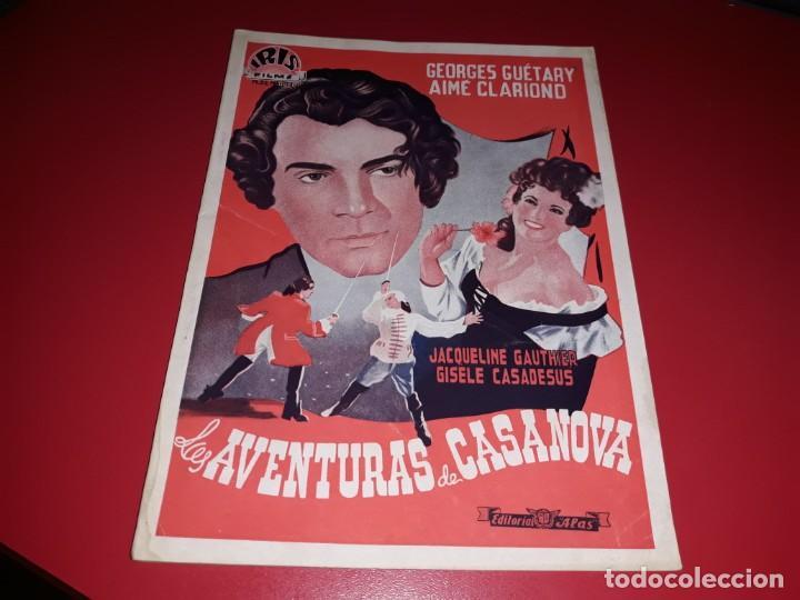 LAS AVENTURAS DE CASANOVA.ARGUMENTO NOVELADO CON MUCHAS FOTOGRAFIAS. 1947 (Cine - Foto-Films y Cine-Novelas)