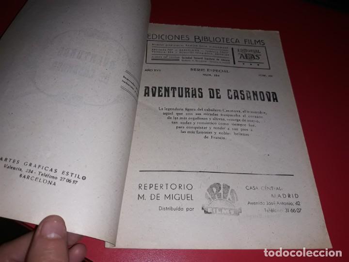 Cine: Las Aventuras de Casanova.Argumento Novelado con muchas Fotografias. 1947 - Foto 2 - 217737093