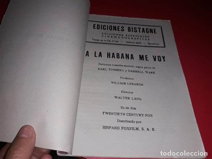 Cine: A la Habana me Voy con Carmen Miranda.Argumento Novelado con muchas Fotografias. 1941 - Foto 2 - 217738006