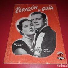 Cine: MI CORAZON TE GUIA. ARGUMENTO NOVELADO CON MUCHAS FOTOGRAFIAS. 1947. Lote 217738842