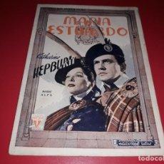 Cine: MARIA ESTUARDO CON KATHARINE HEPBURN . ARGUMENTO NOVELADO CON MUCHAS FOTOGRAFIAS. 1936. Lote 217739637