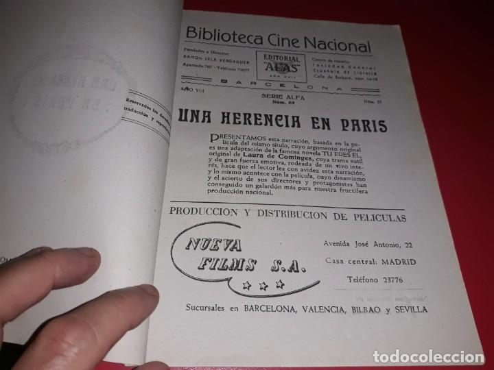 Cine: Una Herencia en París . Argumento Novelado con muchas Fotografias. 1944 - Foto 2 - 217739763