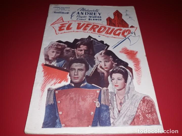 EL VERDUGO . ARGUMENTO NOVELADO CON MUCHAS FOTOGRAFIAS. 1948 (Cine - Foto-Films y Cine-Novelas)