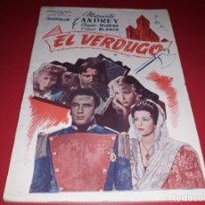 Cine: EL VERDUGO . ARGUMENTO NOVELADO CON MUCHAS FOTOGRAFIAS. 1948. Lote 217741012