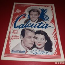 Cine: CALCUTA CON ALAN LADD . ARGUMENTO NOVELADO CON MUCHAS FOTOGRAFIAS. 1946. Lote 217741683