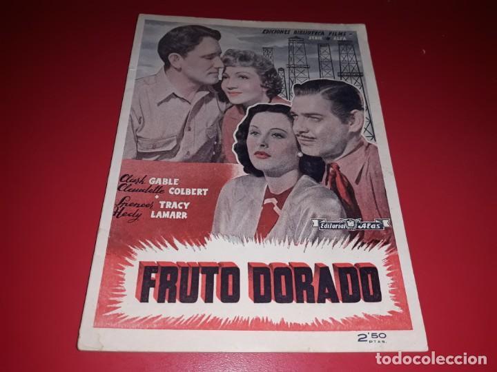 FRUTO DORADO CON CLARK GABLE . ARGUMENTO NOVELADO CON MUCHAS FOTOGRAFIAS. 1940 (Cine - Foto-Films y Cine-Novelas)