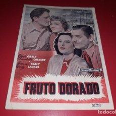 Cine: FRUTO DORADO CON CLARK GABLE . ARGUMENTO NOVELADO CON MUCHAS FOTOGRAFIAS. 1940. Lote 217742313