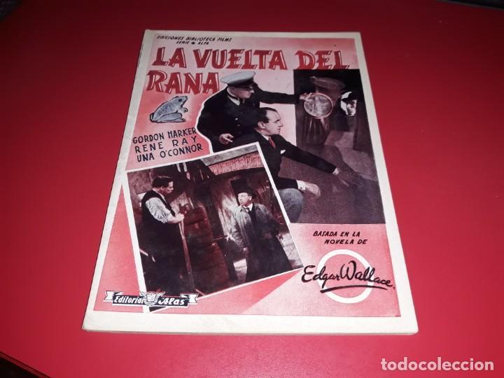 LA VUELTA DEL RANA ARGUMENTO NOVELADO PELICULA CON MUCHAS FOTOGRAFIAS 1938 (Cine - Foto-Films y Cine-Novelas)