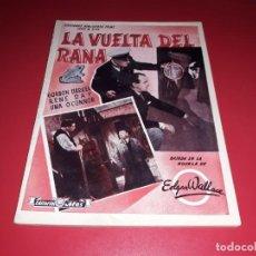 Cine: LA VUELTA DEL RANA ARGUMENTO NOVELADO PELICULA CON MUCHAS FOTOGRAFIAS 1938. Lote 217815983