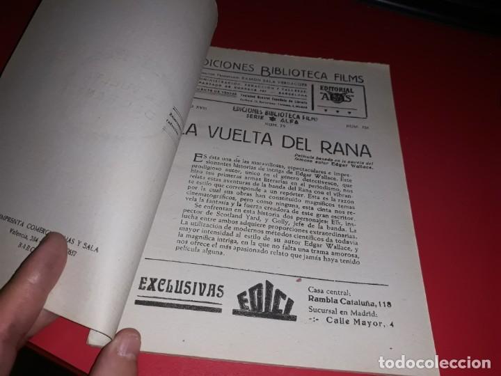 Cine: La Vuelta del Rana Argumento Novelado Pelicula con muchas Fotografias 1938 - Foto 2 - 217815983