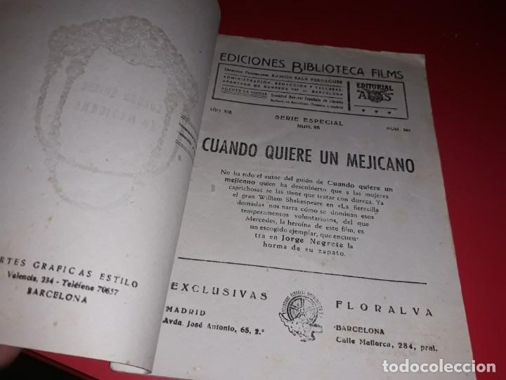 Cine: Cuando Quiere un Mejicano con Jorge Negrete. Argumento Novelado Pelicula con muchas Fotografias 1944 - Foto 2 - 217816338