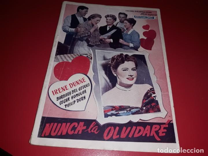 NUNCA LA OLVIDARE CON IRENE DUNNE. ARGUMENTO NOVELADO PELICULA CON MUCHAS FOTOGRAFIAS 1948 (Cine - Foto-Films y Cine-Novelas)