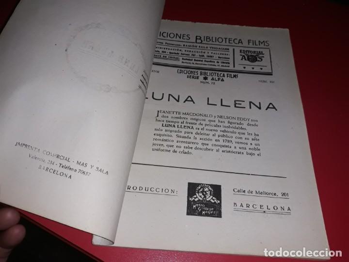 Cine: Luna LLena. Argumento Novelado Pelicula con muchas Fotografias 1940 - Foto 2 - 217817118