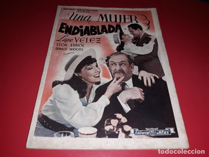 UNA MUJER ENDIABLADA CON LUPE VELEZ. ARGUMENTO NOVELADO PELICULA CON MUCHAS FOTOGRAFIAS 1939 (Cine - Foto-Films y Cine-Novelas)