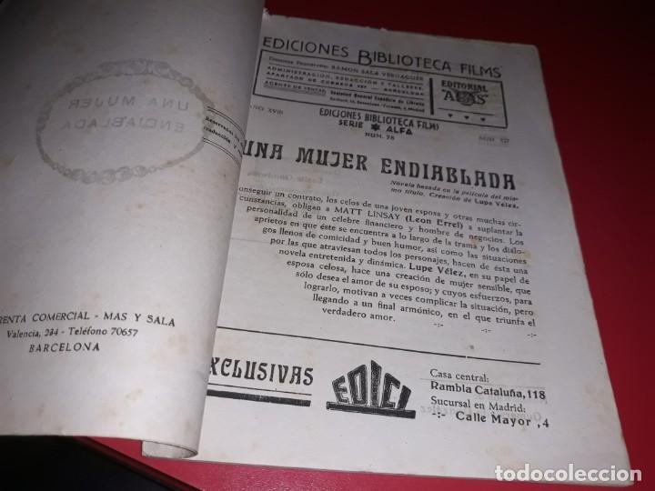 Cine: Una Mujer Endiablada con Lupe Velez. Argumento Novelado Pelicula con muchas Fotografias 1939 - Foto 2 - 217818027
